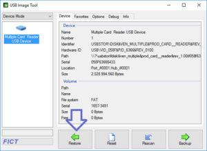 USB Image Tool - Restore