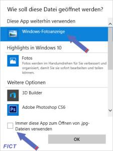 Win10 Windows Fotoanzeige