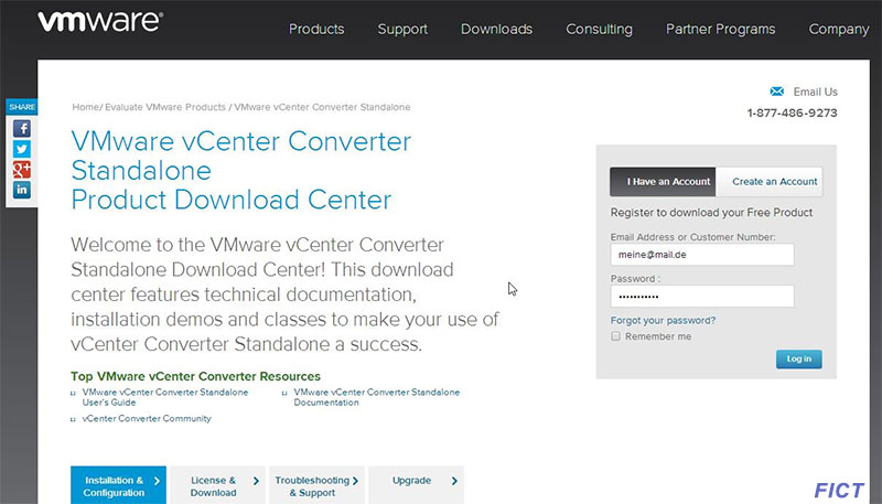 Virtuelle Maschine - vCenter-Converter-download