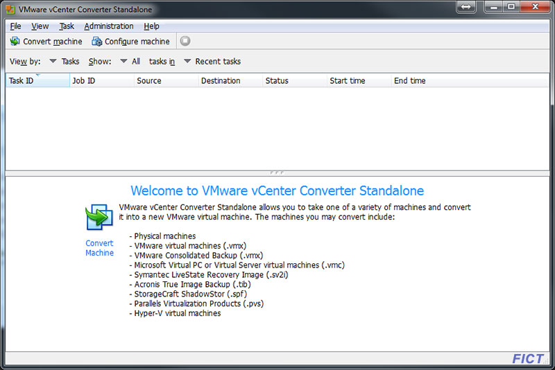 Virtuelle Maschine - vCenter-Converter