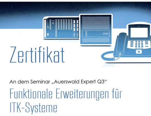 Auerswald Expert Q3 Qualifizierung
