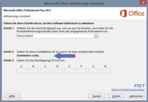 Office Produktaktivierung