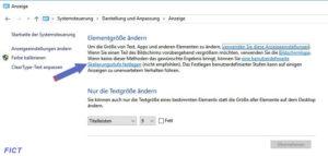 Schrift in Windows 10