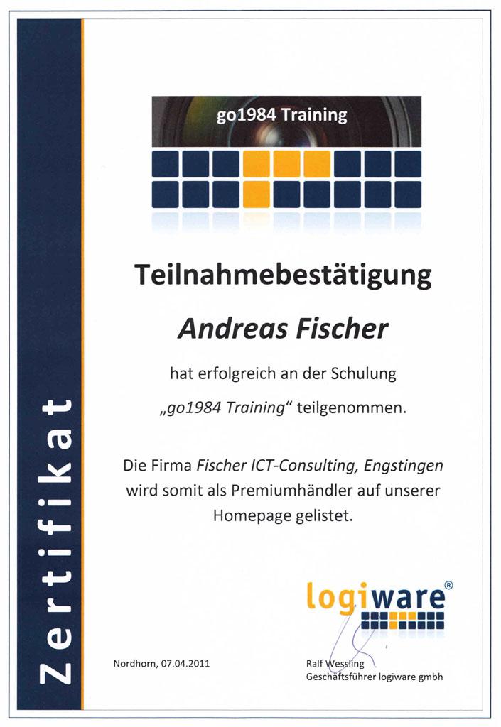 Zertifikat Logiware Premiumhändler