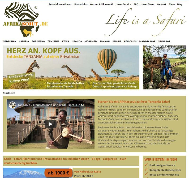 Referenzen Webdesign - Afrika Reisen