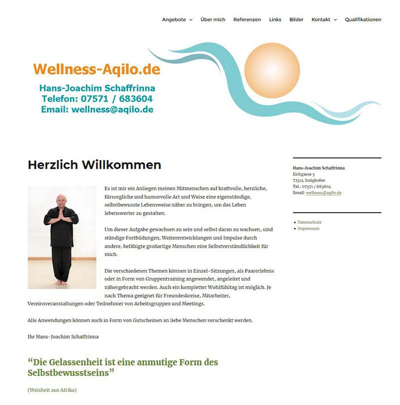 Referenzen Webdesign - Aqilo