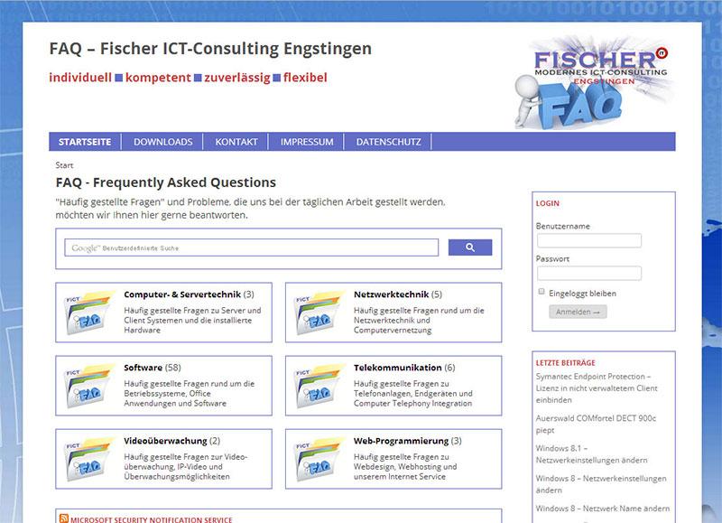 FAQ der Firma Fischer ICT-Consulting Engstingen