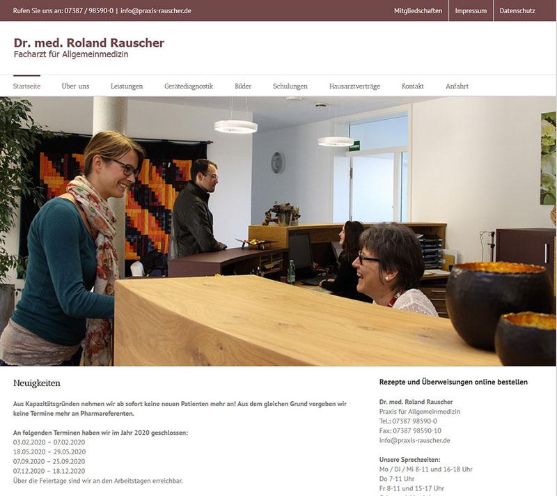 Referenzen Webdesign - Praxis Dr. Roland Rauscher