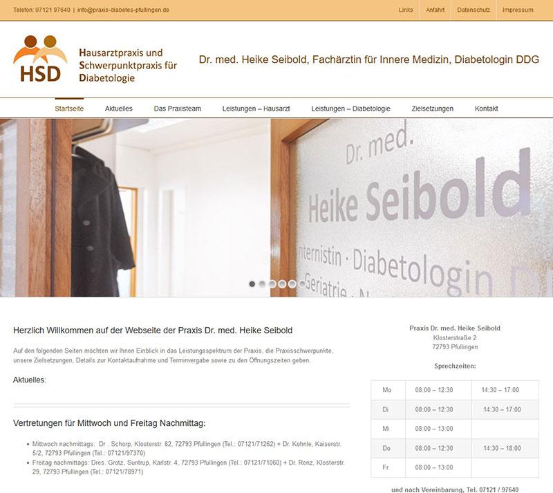 Referenzen Webdesign - Praxis Dr. Seibold